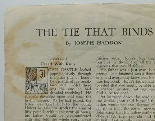 The Tie That Binds Joseph Haddon Lily Library 1950s evangelical story booklet